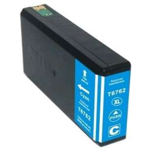 Remanufactured Epson T676XL220 (676XL ink) high quality inkjet cartridge - high capacity pigmented cyan