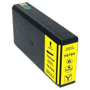 Remanufactured Epson T676XL420 (676XL ink) high quality inkjet cartridge - high capacity pigmented yellow