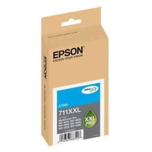 Original Epson T711XXL220 (711XXL ink) high quality inkjet cartridge - extra high capacity cyan