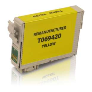Remanufactured Epson T069420 (69 ink) high quality inkjet cartridge - yellow