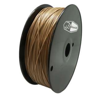 3D Filament (Bison3D brand) for 3D Printing, 1.75mm, 1kg/roll, Gold (Flexible)