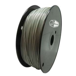 3D Filament (Bison3D brand) for 3D Printing, 1.75mm, 1kg/roll, Grey (Flexible)