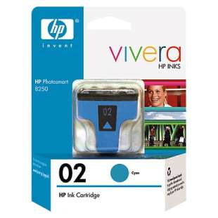 Original Hewlett Packard (HP) C8771WN (HP 02 ink) high quality inkjet cartridge - cyan
