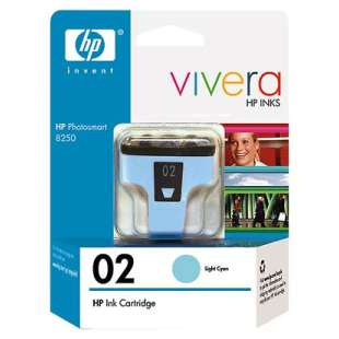 Original Hewlett Packard (HP) C8774WN (HP 02 ink) high quality inkjet cartridge - light cyan