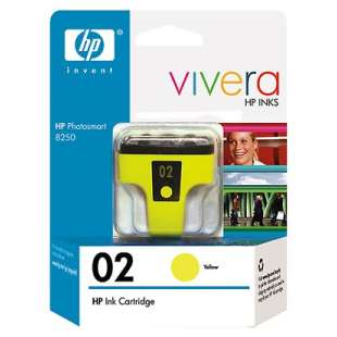 Original Hewlett Packard (HP) C8773WN (HP 02 ink) high quality inkjet cartridge - yellow
