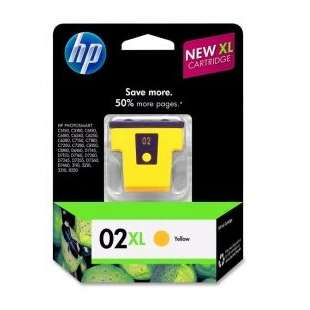 Original Hewlett Packard (HP) C8732WN (HP 02XL ink) high quality inkjet cartridge - yellow
