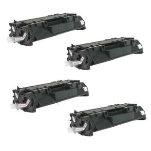Compatible HP CE505A (05A) toner cartridges - EXTRA HIGH YIELD (JUMBO) high quality - 4-pack