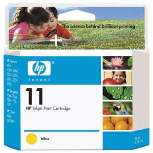 Original Hewlett Packard (HP) C4838AN (HP 11 ink) high quality inkjet cartridge - yellow