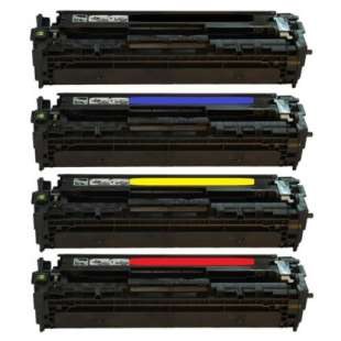 Compatible HP 128A toner cartridges - 4-pack