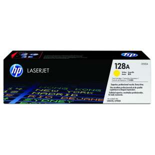 Original Hewlett Packard (HP) CE322A (128A) toner cartridge - yellow
