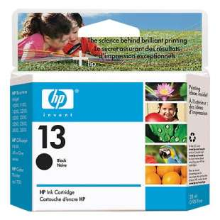 Original Hewlett Packard (HP) C4814A (HP 13 ink) high quality inkjet cartridge - black cartridge