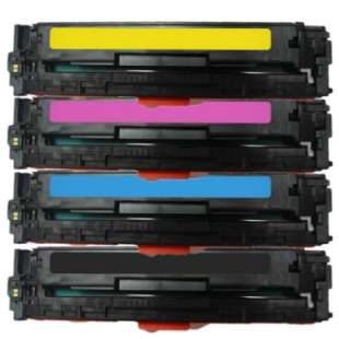 Compatible for HP CF210A / CF211A / CF212A / CF213A (131A) toner cartridges - 4-pack