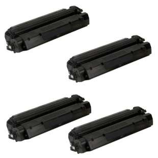 Compatible HP C7115X (15X), Q2613A (13A), Q2624A (24A), Canon EP-25 toner cartridges - 4-pack