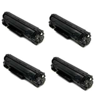Compatible HP CF217A (17A) toner cartridges - WITHOUT CHIP - 4-pack