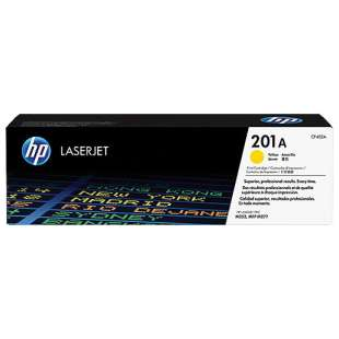 Original Hewlett Packard (HP) CF402A (201A) toner cartridge - yellow