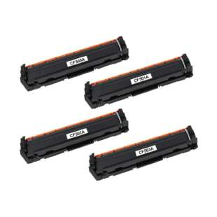 HP Compatible Cartridge for HP CF500A / CF501A / CF503A / CF502A (202A) toner cartridges - 4-pack