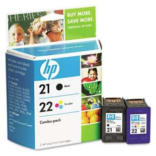 Original Hewlett Packard (HP) C9509FN (HP 21/22) Multipack - 2 pack