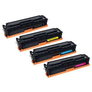 Compatible for HP CE410A / CE411A / CE413A / CE412A (305A) toner cartridges - 4-pack