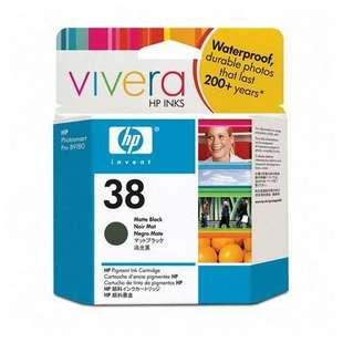 Original Hewlett Packard (HP) C9412A (HP 38 ink) high quality inkjet cartridge - matte black