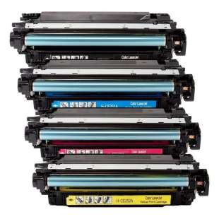 Compatible for HP 504A toner cartridges - 4-pack