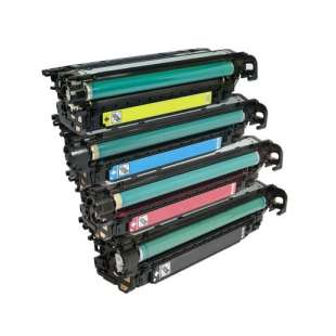 Compatible HP 504X / 504A toner cartridges - 4-pack