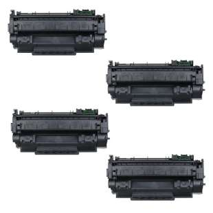 Compatible HP Q7553X (53X) toner cartridges - 4-pack
