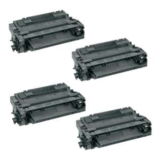 Compatible HP CE255A (55A) toner cartridges - 4-pack