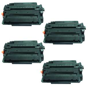 Compatible HP CE255X (55X) toner cartridges - EXTRA HIGH YIELD (JUMBO) high quality - 4-pack