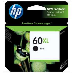 Original Hewlett Packard (HP) CC641WN (HP 60XL ink) high quality inkjet cartridge - high capacity black