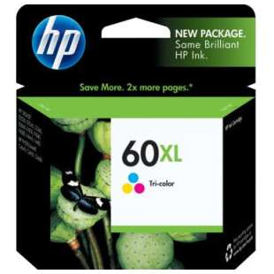 Original Hewlett Packard (HP) CC644WN (HP 60XL ink) high quality inkjet cartridge - high capacity color