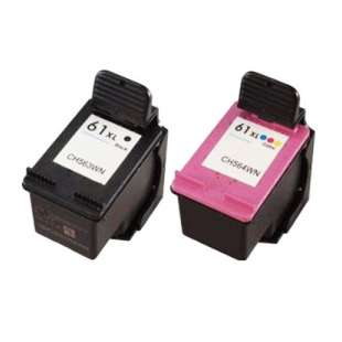 Remanufactured high quality inkjet cartridges Multipack for HP 61XL - 2 pack