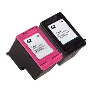 Remanufactured high quality inkjet cartridges Multipack for HP 62 - 2 pack
