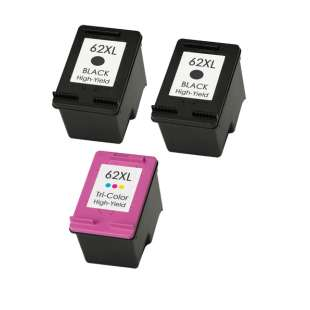 Remanufactured inkjet cartridges Multipack for HP 62XL - 3 pack
