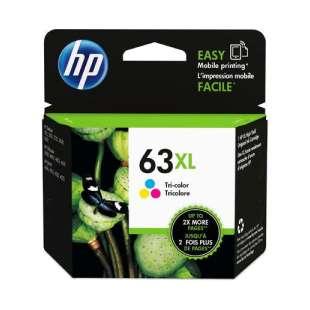 Original HP F6U63AN (HP 63XL) inkjet cartridge - high capacity color