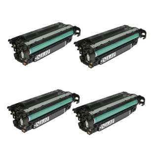 HP Compatible Cartridge for HP CE260X (649X) toner cartridges - 4-pack