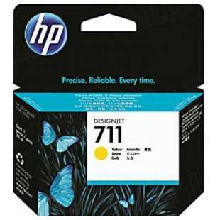 Original Hewlett Packard (HP) CZ132A (HP 711 ink) high quality inkjet cartridge - yellow
