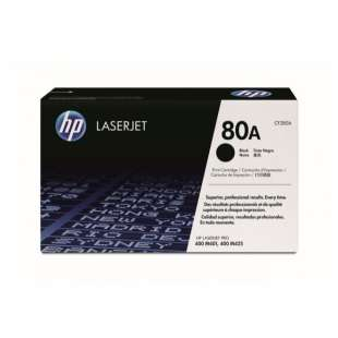 Original Hewlett Packard (HP) CF280A (80A) toner cartridge - black cartridge