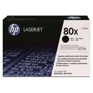 Original Hewlett Packard (HP) CF280X (80X) toner cartridge - high capacity black