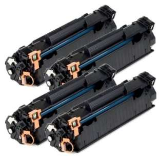 Compatible for HP CE285A (85A) toner cartridges - 4-pack