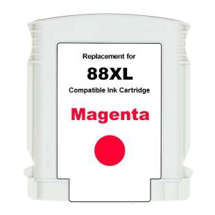 Remanufactured HP C9392AN (HP 88XL ink) high quality inkjet cartridge - high capacity magenta