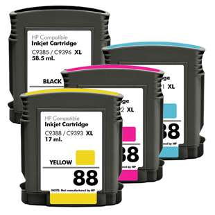 Remanufactured high quality inkjet cartridges Multipack for HP 88XL - 4 pack