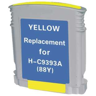 Remanufactured HP C9393AN (HP 88XL ink) high quality inkjet cartridge - high capacity yellow