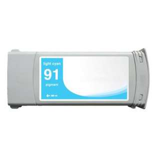 Remanufactured HP C9470A (HP 91 ink) high quality inkjet cartridge - light cyan
