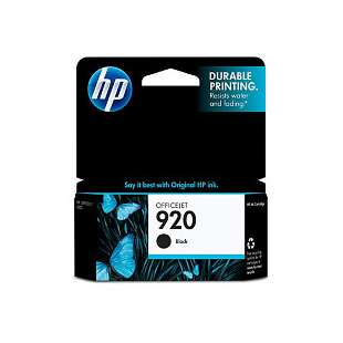 Original Hewlett Packard (HP) CD971AN (HP 920 ink) high quality inkjet cartridge - black cartridge