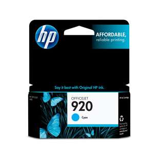 Original Hewlett Packard (HP) CH634AN (HP 920 ink) high quality inkjet cartridge - cyan