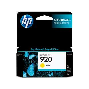 Original Hewlett Packard (HP) CH636AN (HP 920 ink) high quality inkjet cartridge - yellow
