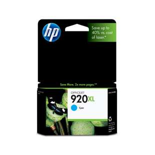 Original Hewlett Packard (HP) CD972AN (HP 920XL ink) high quality inkjet cartridge - high capacity cyan