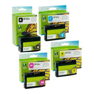Premium ink cartridge replacement for HP 932XL/933XL - high capacity 4 pack - Made in the USA