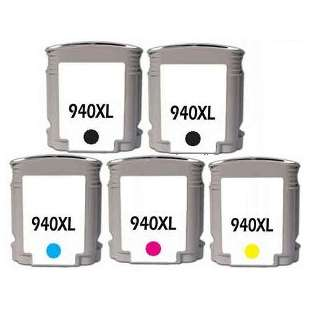 Remanufactured high quality inkjet cartridges Multipack for HP 940XL - 5 pack