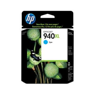 Original Hewlett Packard (HP) C4907AN (HP 940XL ink) high quality inkjet cartridge - high capacity cyan